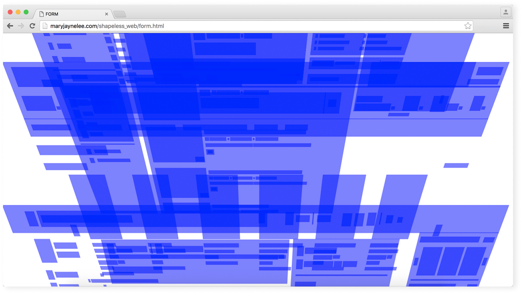 Shaping the Shapeless Web project layered perspective screen